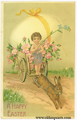 A Happy Easter. EASTER POSTCARD