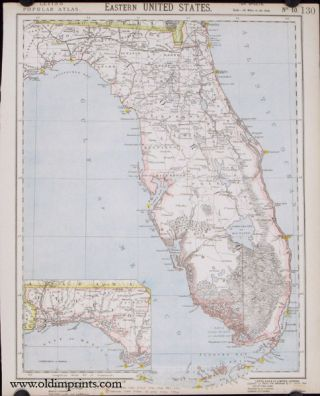 Eastern United States [Florida]. Lett's Popular Atlas No. 10. FLORIDA
