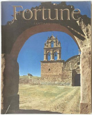 Fortune Magazine. January 1942. BOLIVIA / HITLER / WORLD MAP