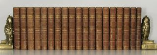 Essays of Maeterlinck. Plays of Maeterlinck. FINE BINDING - DECORATIVE LEATHER BOUND SET, Maurice...