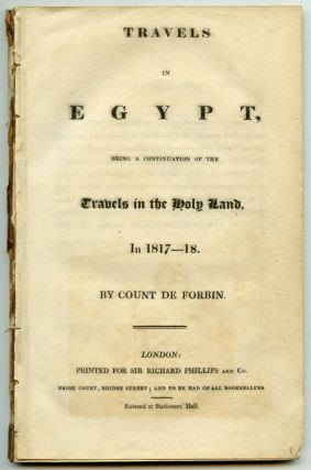 Travels in Egypt, Being a continuation of the Travels in the Holy Land, In 1817-18.