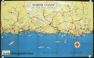 North Coast. New South Wales Australia. For the Tourist. AUSTRALIA - NEW SOUTH WALES - VINTAGE...