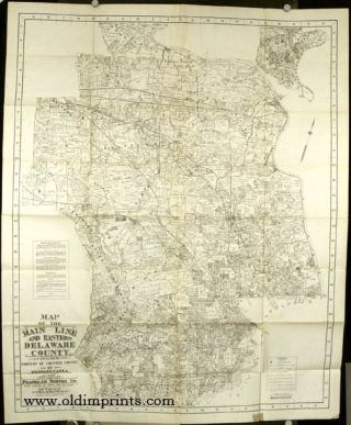 Franklin's Map of Main Line, Eastern Delaware County and Portions of Chester County. Map title:...