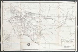 "A Map of Pacific Electric Lines ""In Southern California"". Map Title: Rail and Motor Coach Lines..."
