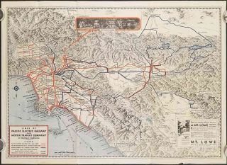 Map Showing Routes of the Pacific Electric Railway and Motor Transit Company with Connecting...