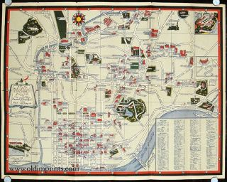 A New Map of Cincinnati Historic & Pictorial. OHIO - CINCINNATI