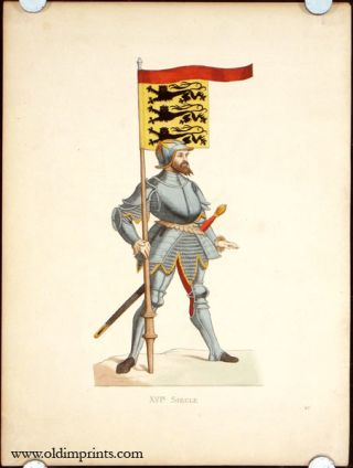 XVI. Siecle. Angleterre - Homme D'Armes. ENGLAND - HISTORICAL COSTUMES