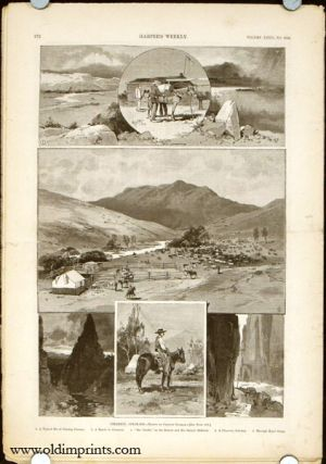 Cimarron, Colorado in complete issue of Harper's Weekly. COLORADO / VIRGINIA