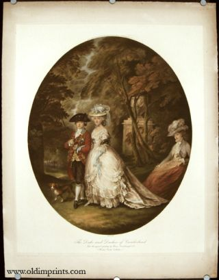 The Duke and Duchess of Cumberland. FASHION / ROCOCO