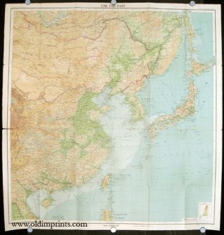 Bartholomew's General World Series. Map of the Far East. China, Japan, Korea and Manchukuo. ASIA.