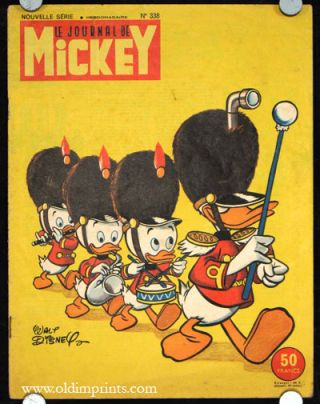 Le Journale de Mickey. Nouvelle Serie No.338. DISNEY