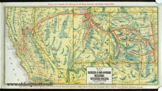 Panoramic Views Denver & Rio Grande Western Royal Gorge Route Western Pacific Feather River Canon Route.