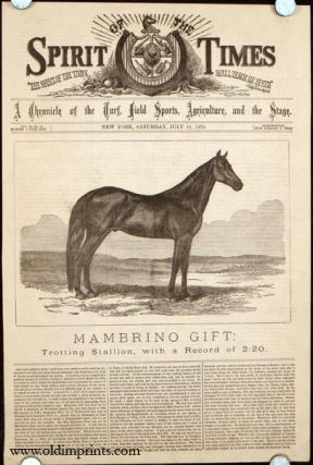 Mambrino Gift: Trotting Stallion, with a Record of 2:20. HORSE RACING