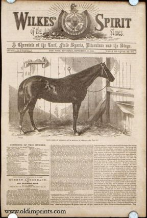 Daniel Boone, by Lexington, Out of Magnolia, by Glencoe. HORSE RACING