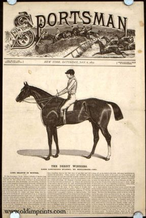 The Derby Winners. Lord Lowther's Spaniel, by Whalebone---1831. HORSE RACING