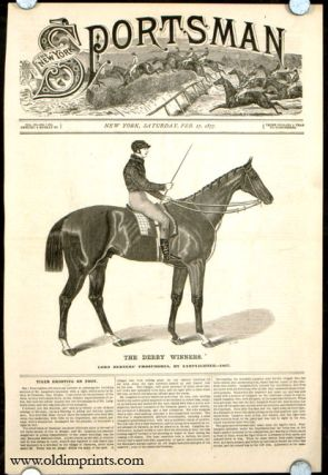 The Derby Winners. Lord Berners' Phosphorus, by Lamplighter---1837. HORSE RACING