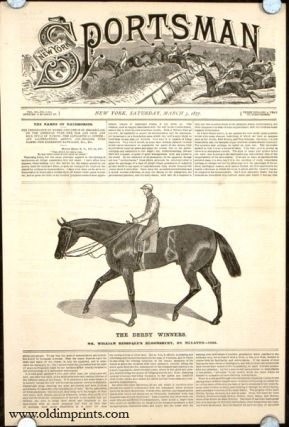 The Derby Winners. Mr. William Ridsdale's Bloomsbury, by Mulatto---1839. HORSE RACING