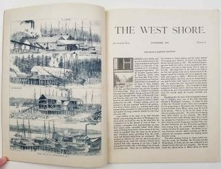 The West Shore. An Illustrated Western Magazine. WASHINGTON TERRITORY - ABERDEEN / CENTRALIA /...