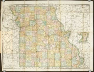 Rand McNally & Co.'s Indexed County and Township Pocket Map and Shippers' Guide of Missouri...