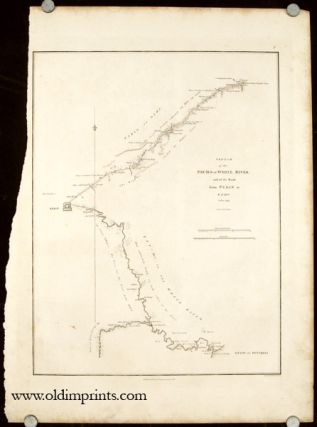 Sketch of the Pay-ho or White River, and of the Road from Pekin to Geho taken 1793. CHINA - BEIJING.