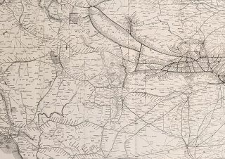 United States Map. Burlington Route. Links East and West and Does it Best. Map title: Map of the Burlington Route. The National Park Line and Connections.