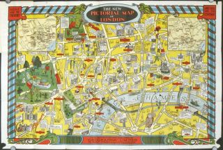 The New Pictorial Map of London. ENGLAND - LONDON