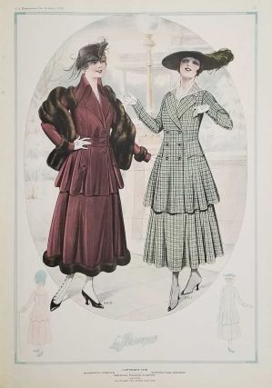 Les Parisiennes for October 1916. FRENCH FASHION - 1910S.