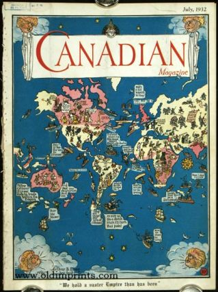 Canadian Magazine. WORLD MAP - BRITISH EMPIRE.