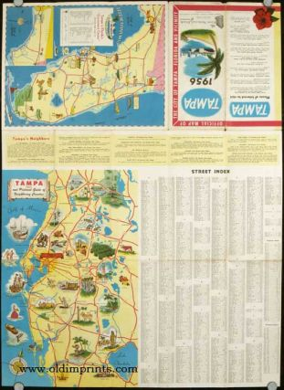 Official Map of the City of Tampa Florida and Vicinity. Tampa 1956. FLORIDA - TAMPA