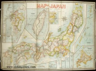 Map of Japan. JAPAN / TAIWAN, Takachika Okishio