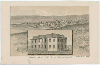 General View of the City of Fort Benton, Montana. / Fort Benton, Montana. MONTANA - FORT BENTON
