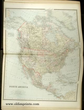 Bradley's Atlas of the World for Commercial and Library Reference. A Complete American and Foreign Atlas, Compiled from Official State, National and International Surveys Supplemented by Information Furnished by the Postal and Interior Departments...