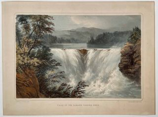 Falls of the Kamanis Taquoih River. CANADA - WARRE EXPEDITION