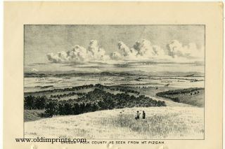Oregon - View of a Portion of Dallas, Polk County. Oregon - Polk County as Seen from Mt. Pizgah.