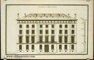 Elevation pour une Maison de 18 Toises. ARCHITECTURE - FRENCH 18TH CENTURY