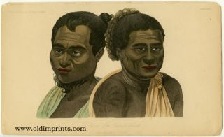Natives of the Sandwich Islands. HAWAII - NATIVE INHABITANTS