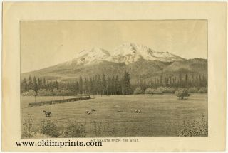 Mt. Shasta, from the West. Yreka, California. CALIFORNIA - MT. SHASTA