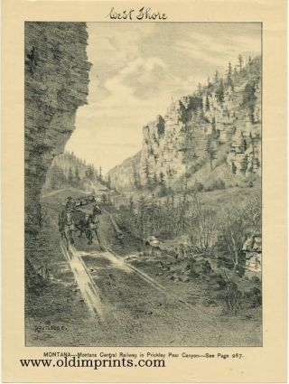 Montana - Montana Central Railway in Prickley Pear Canyon. MONTANA / RAILROAD
