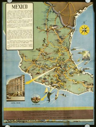 Hotel Regis Mexico. Map title: Mexico. MEXICO