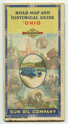 Sunoco Road Map and Historical Scenic Guide. Ohio. Map title: Historical - Pictorial Map of Ohio.