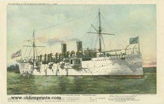 "U.S. Protected Cruiser ""Philadelphia."" U S. NAVY"