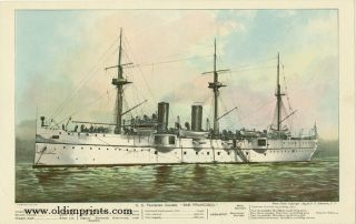 "U.S. Protected Cruiser ""San Francisco."" U S. NAVY"