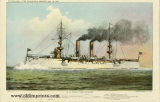 "U.S. Cruiser ""New Orleans."" U S. NAVY"