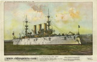 "U.S. Armored Cruiser ""New York."" U S. NAVY"