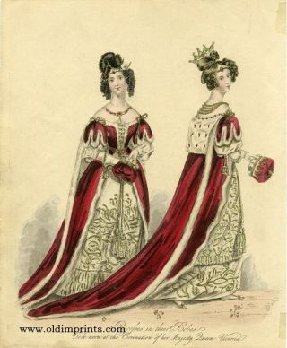 Peeresses in their Robes. To be worn at the Coronation of her Majesty Queen Victoria. ENGLAND -...