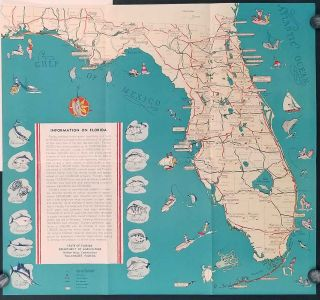 After Victory. Map title: Information on Florida. FLORIDA