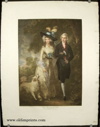 The Morning Walk. Squire Hallett and his wife. GAINSBOROUGH / ROCOCO FASHION