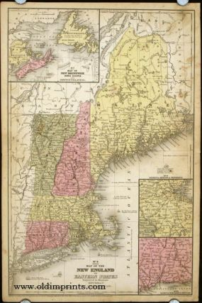Map of the New England or Eastern States. NEW ENGLAND