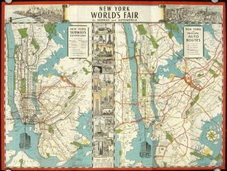 The New York World's Fair: Maps that show how to get there by subway automobile (Map title: New...