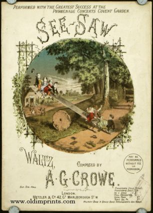 See-Saw. Waltz, Composed by A.G. Crowe. CHILDREN'S GAMES - MUSIC SHEET COVER